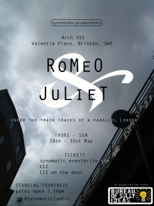 Romeo & Juliet by Synomatic Productions at Arch 555 Valentia place, Brixton